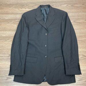 Valentino Solid Black Blazer 38R